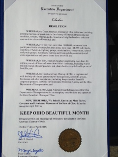 April 2015 - Keep Ohio Beautiful Month